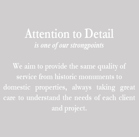Attention to detail is one of our  strongpoints.